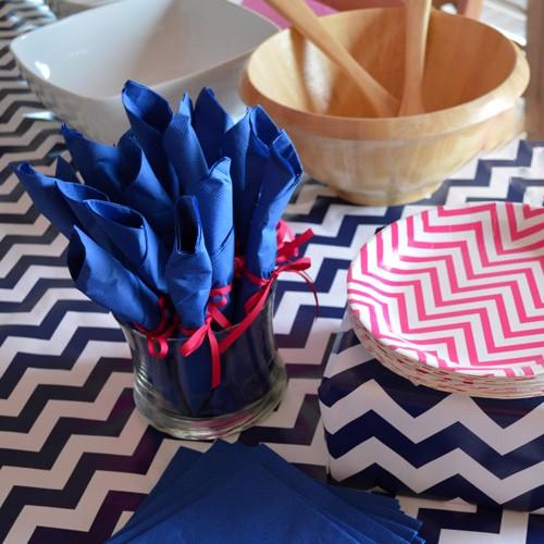 Μονόχρωμες Μπλε Χαρτοπετσέτες (20-pack)