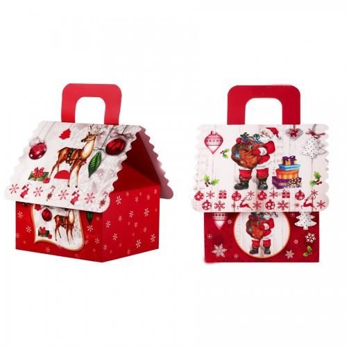 Χριστουγεννιάτικο Κουτί Γλυκών Με Χερούλι Διαλέξτε Σχέδιο