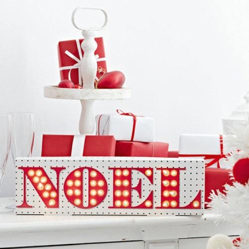 Χριστουγεννιάτικη Φωτιζόμενη Πινακίδα NOEL - Talking Tables