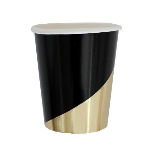 Χάρτινα Ποτήρια Σε Μαύρο Και Χρυσό Foil-Noir By Harlow & Grey
