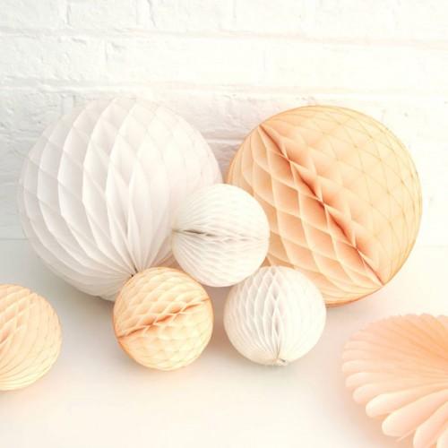 abcJoy Ιβουάρ-Ivory Honeycomb ball - 14''