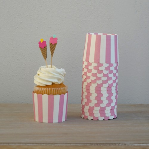Cupcake Toppers-Χωνάκια Παγωτό-Icecream Cones-Hand Made by Ministry Of Art (8pcs)