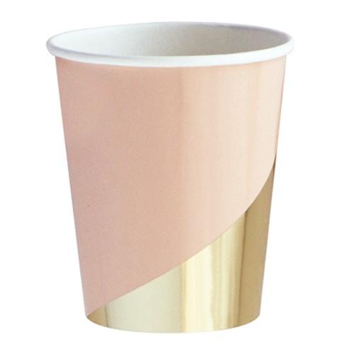 Χάρτινα Ποτήρια Σε Ροζ Και Χρυσό Foil-Goddess By Harlow & Grey