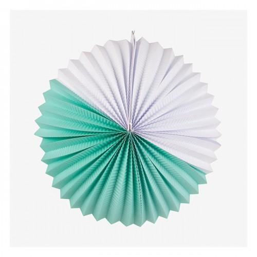 """Double Joy"" Λευκό και Aqua Paper Lantern- My Little Day"