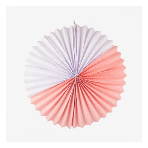 """Double Joy"" Λευκό και Ροζ Paper Lantern-My Little Day"