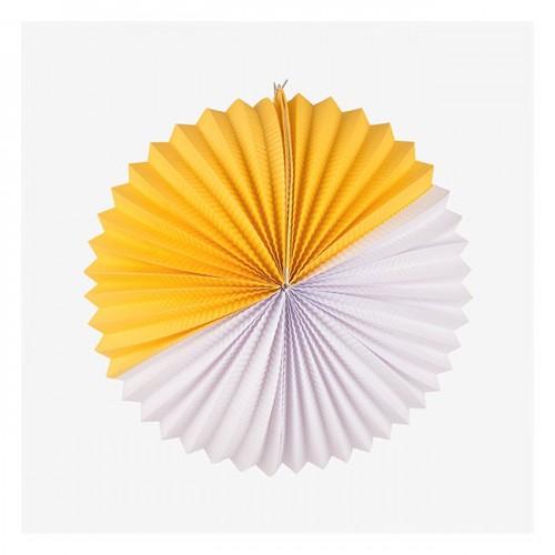 """Double Joy"" Λευκό και Κίτρινο Paper Lantern-My Little Day"