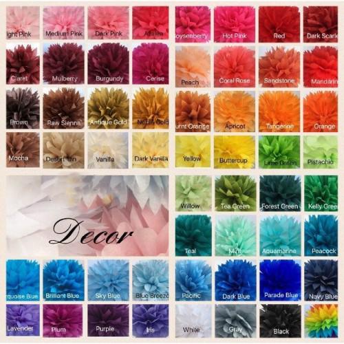 Pom Pom Χάρτινη Διακόσμηση Επιλέξτε Χρώμα
