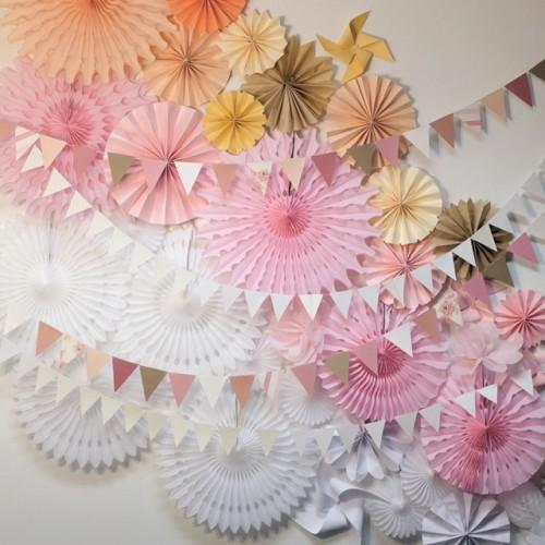 Paper Fan Ροζ 41cm Unique