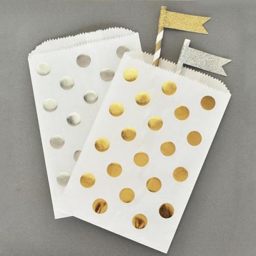 abcJoy Πουά Ασημί Σακουλάκια χάρτινα (25-pack)