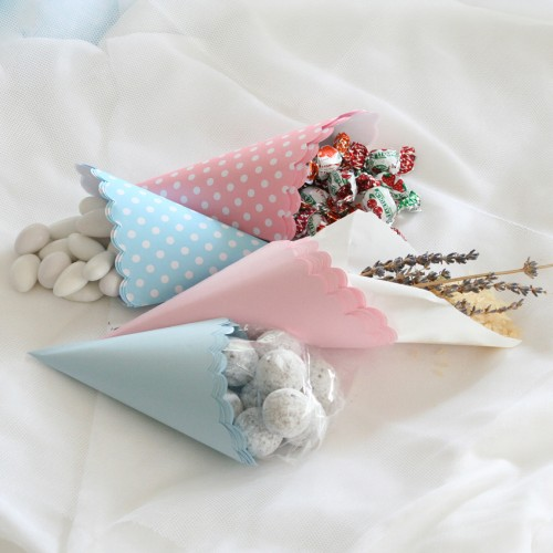 Χρωματιστά Χωνάκια Γλυκών-PopCorns (25τμχ) Επιλέξτε Χρώμα