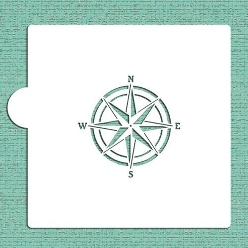 Compass Rose Cookie Stencils - Στένσιλ Για Μπισκότα ή Πλαϊνά Τούρτας Πυξίδα Designer Stencils