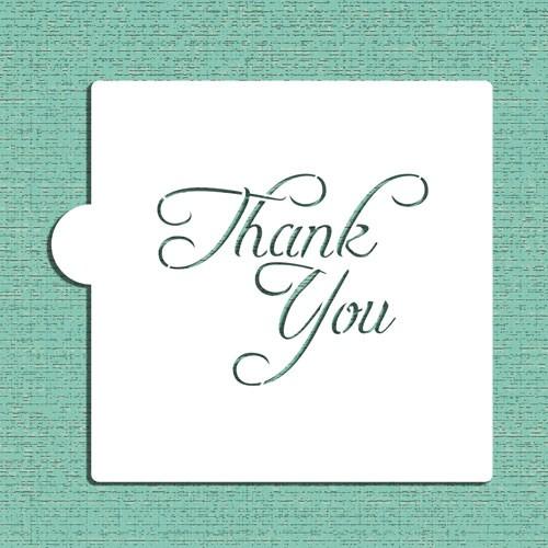 Thank You Cookie Stencils - Στένσιλ Για Μπισκότα Ή Πλαϊνά Τούρτας Σας Ευχαριστώ Designer Stencils