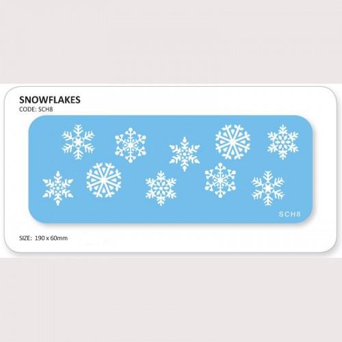 Stencil Snowflakes-Στένσιλ Χιονονιφάδες με 10 σχέδια της PME