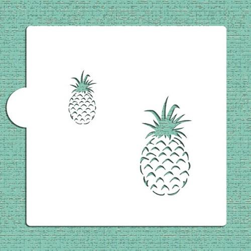 Pineapple Cookie Stencils - Στένσιλ Για Μπισκότα Ανανάς Designer Stencils