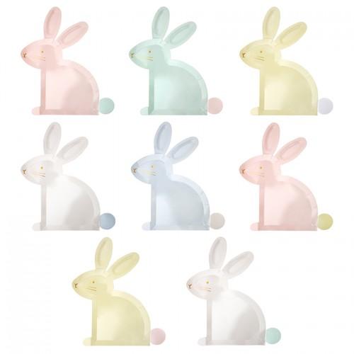 Χάρτινα Πιάτα Παστέλ Πασχαλινός Λαγός Pastel Bunny Plates Meri Meri