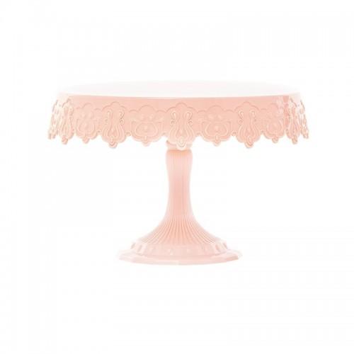 Ροζ Πλαστικό Cake Stand Message-Pavoni