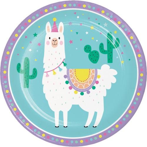 Χάρτινα Πιάτα Φαγητού Λάμα  Llama Party