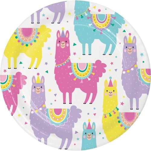 Χάρτινα Πιάτα Γλυκού Λάμα  Llama Party