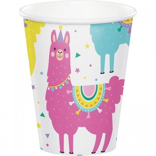 Χάρτινα Ποτήρια Λάμα  Llama Party