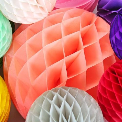 abcJoy Κοραλί-Coral Honeycomb ball - 8''