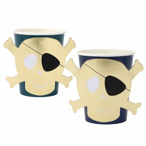 Ποτήρια Πειρατική Νεκροκεφαλή Pirates Bounty Cups Meri Meri