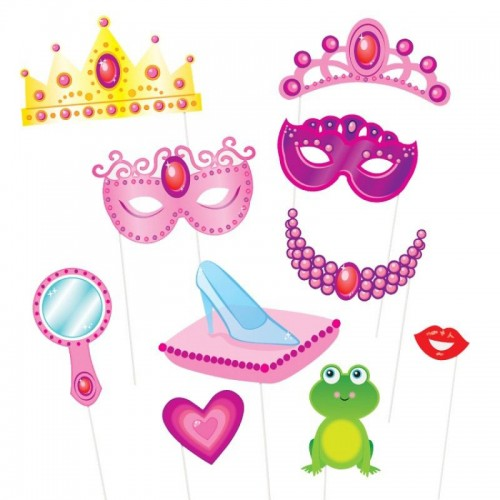 Photo Booth Kit Princess 10 party props Unique