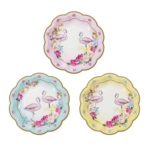 Χάρτινα Πιάτα Φλαμίνγκο-Truly Flamingo Paper Plates(12-pack)-Talking Tables