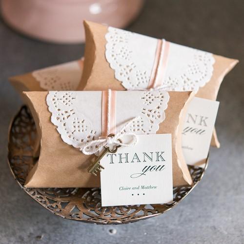 Kraft Pillow Box-Κραφτ Κουτί Για Γλυκά, Δώρα & Wedding Favors