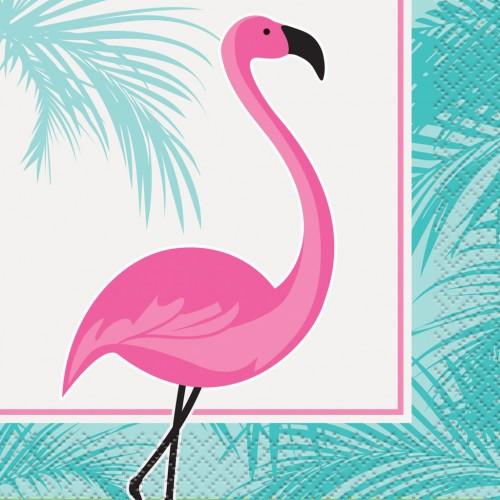 Χαρτοπετσέτες Ροζ Φλαμίνγκο-Pink Flamingo Napkins(16-pack)