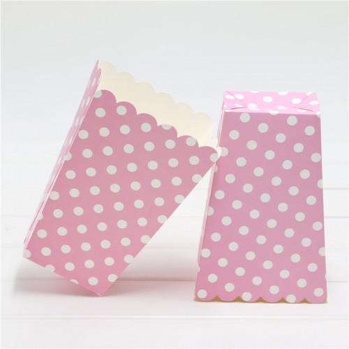 Πουά ροζ popcorn boxes (8-pack)