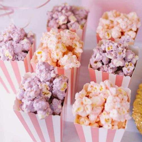 abcJoy ριγέ ροζ popcorn boxes (12-pack)