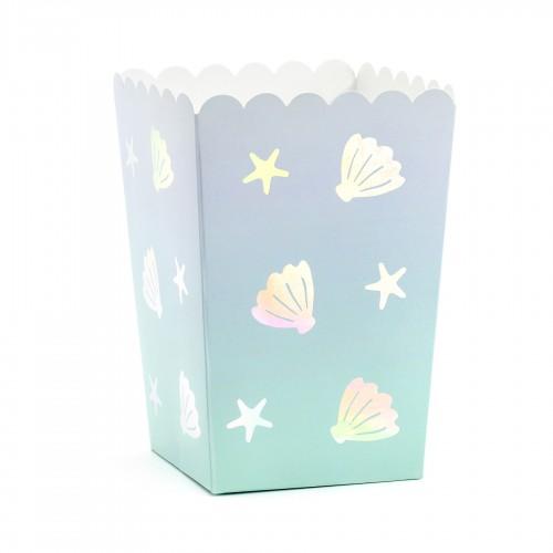 Χάρτινα Popcorn Boxes Βυθός-Κουτιά Για Ποπ Κορν και Γλυκά