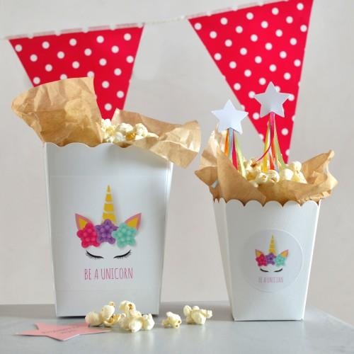 Λευκά Χάρτινα Popcorn Boxes-Κουτιά Για Ποπ Κορν και Γλυκά