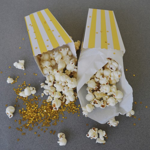 abcJoy ριγέ χρυσά popcorn boxes (12-pack)