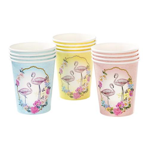 Χάρτινα Ποτήρια Φλαμίνγκο-Truly Flamingo Paper Cups-Talking Tables