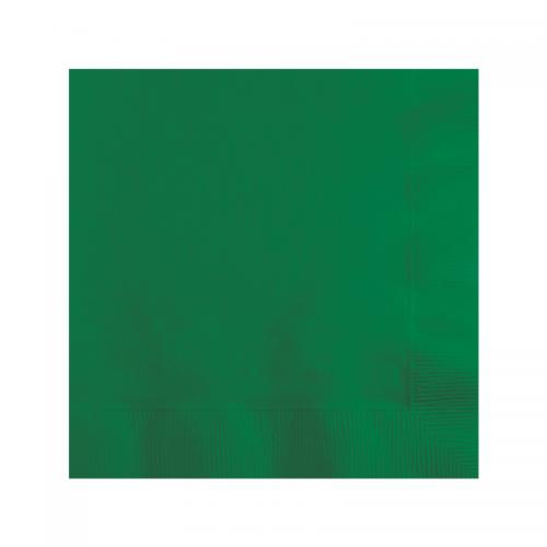 Μονόχρωμες Πράσινες Χαρτοπετσέτες 50-pack