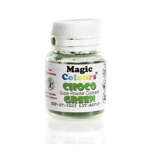 Πράσινο Λιποδιαλυτό Χρώμα σε Σκόνη για Σοκολάτα της Magic Colours