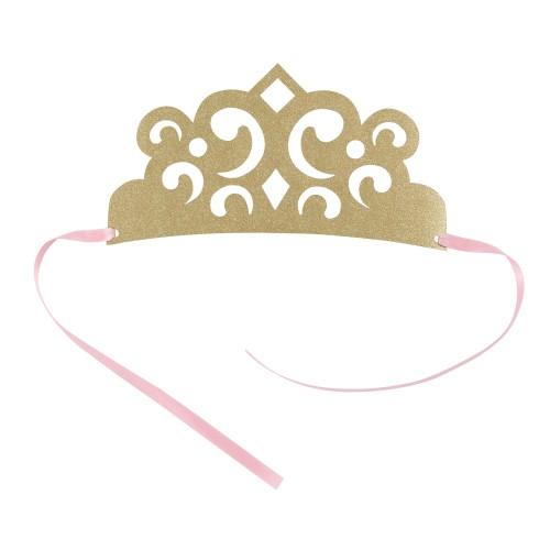 Χάρτινα Στέμματα Πριγκίπισσα Με Χρυσό Γκλίτερ - 4pcs