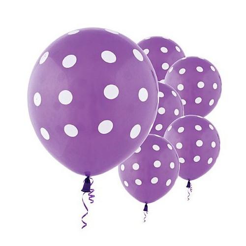abcJoy μωβ λιλά  πουά μπαλόνια