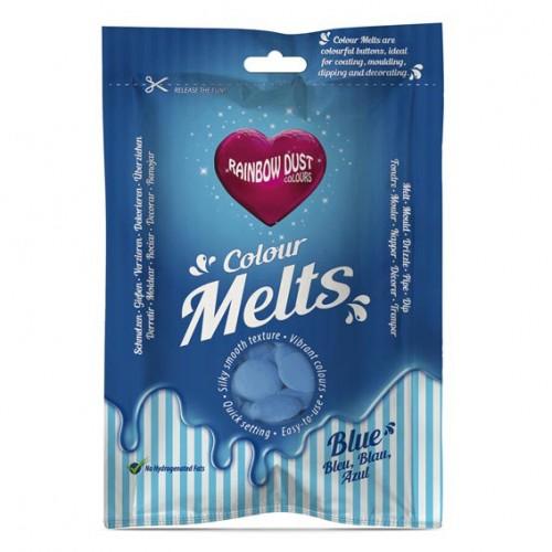 Μπλε Σταγόνες Σοκολάτας-Candy Melts-Rainbow Dust