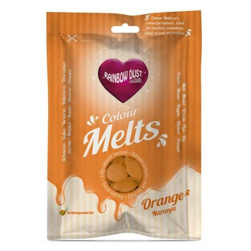 Πορτοκαλί Σταγόνες Σοκολάτας-Candy Melts-Rainbow Dust