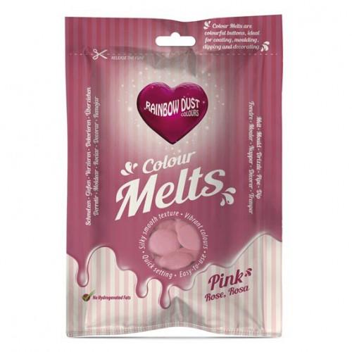 Ροζ Σταγόνες Σοκολάτας-Candy Melts-Rainbow Dust