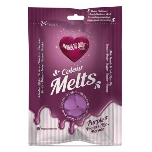 Μωβ Σταγόνες Σοκολάτας-Candy Melts-Rainbow Dust