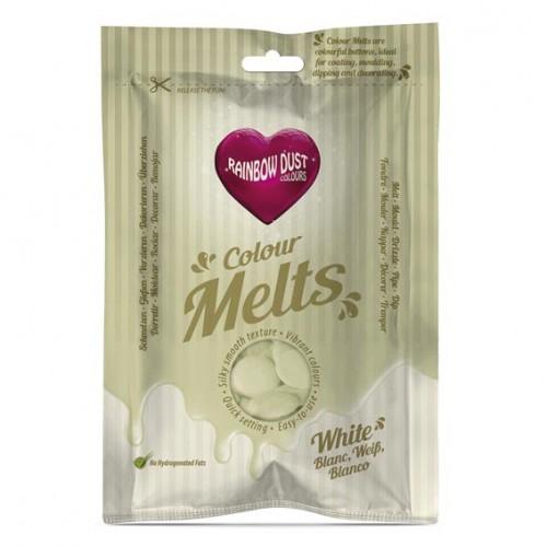 Λευκές Σταγόνες Σοκολάτας-Candy Melts-Rainbow Dust