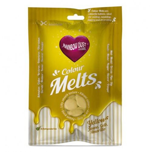 Κίτρινες Σταγόνες Σοκολάτας-Candy Melts-Rainbow Dust
