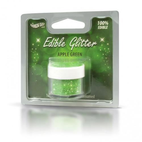 Βρώσιμο Γκλίτερ-Πράσινο Μήλο-Rainbow Dust Glitter-5gr