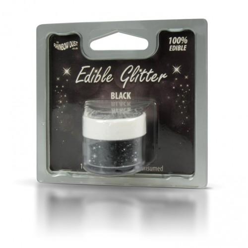 Βρώσιμο Γκλίτερ-Μαύρο-Rainbow Dust Glitter-5gr