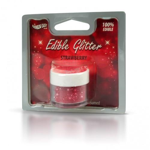 Βρώσιμο Γκλίτερ-Κόκκινο Της Φράουλας-Rainbow Dust Glitter-5gr