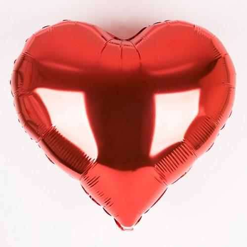 Μεταλλικό Μπαλόνι Κόκκινη Καρδιά 46cm.