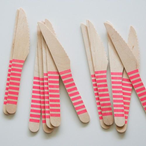 abcJoy φούξια ριγέ ξύλινα μαχαιράκια (12-pack)